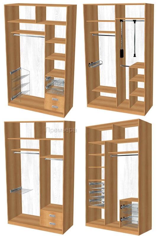 Vasa: двухстворчатые шкафы фото.